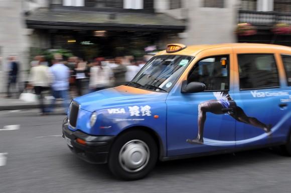 Taxi in London während Olympia 2012