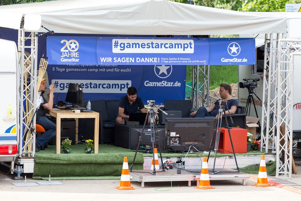 #gamestarcampt auf dem Gamescomcamp
