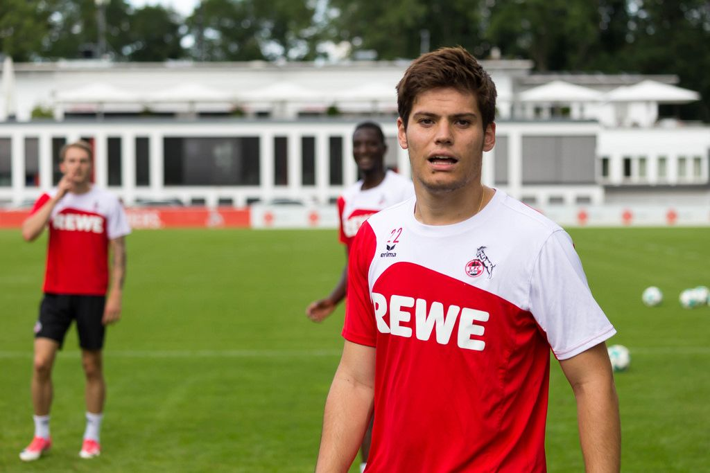 1. FC Köln Spieler Jorge Meré beim Training