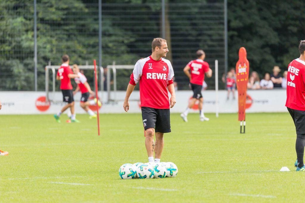 1. FC Köln Spieler Matthias Lehmann beim Training