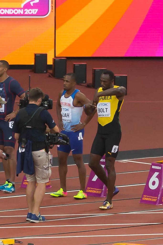 100-Meter-Läufer Usain Bolt bei den IAAF Leichtathletik-Weltmeisterschaften 2017 in London