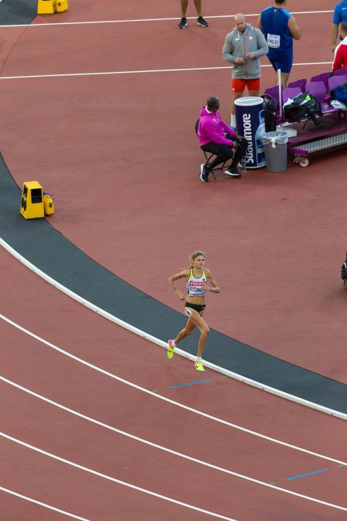 1500-Meter-Läuferinnen Konstanze Klosterhalfen bei den IAAF Leichtathletik-Weltmeisterschaften 2017 in London