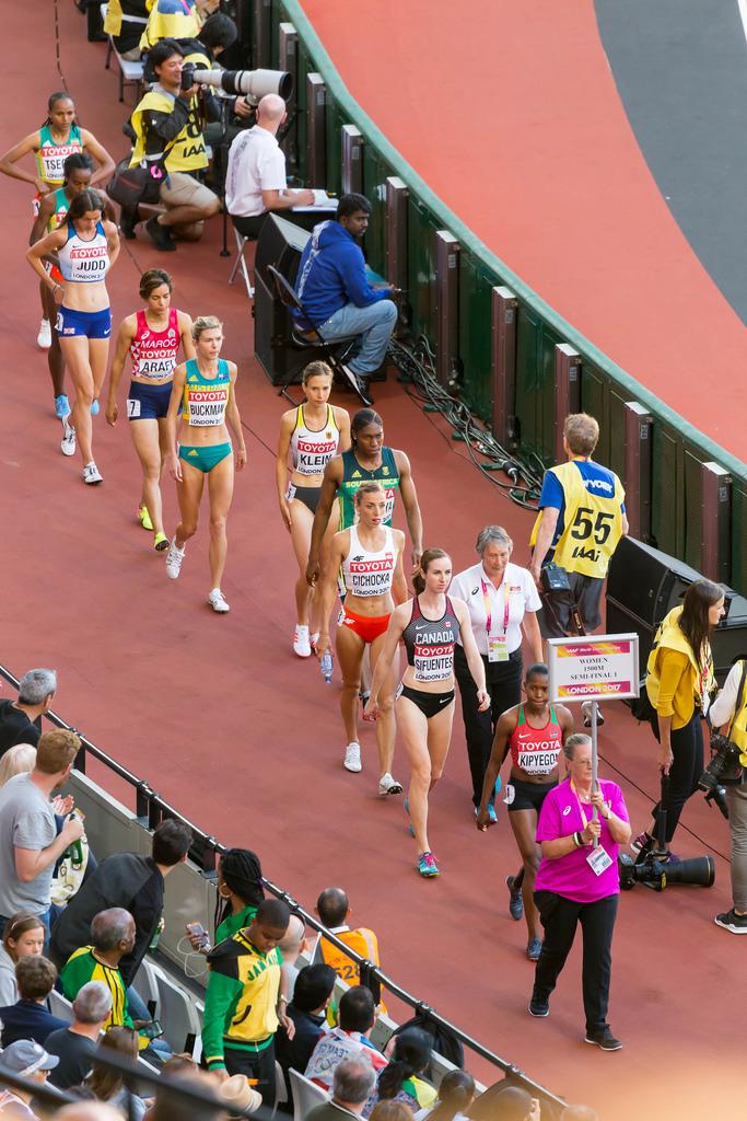 1500m Lauf der Frauen: Halbfinale