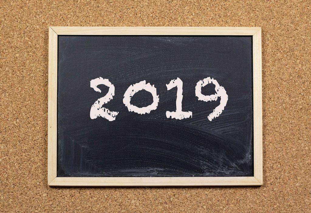 2019 on chalkboard