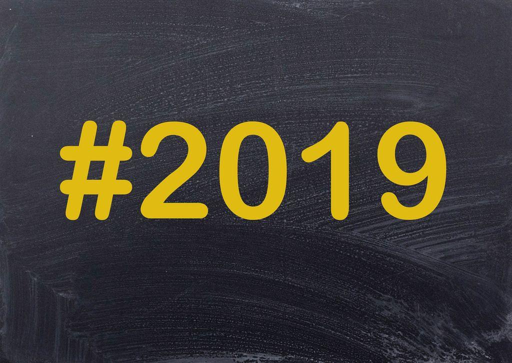 2019 written on chalkboard