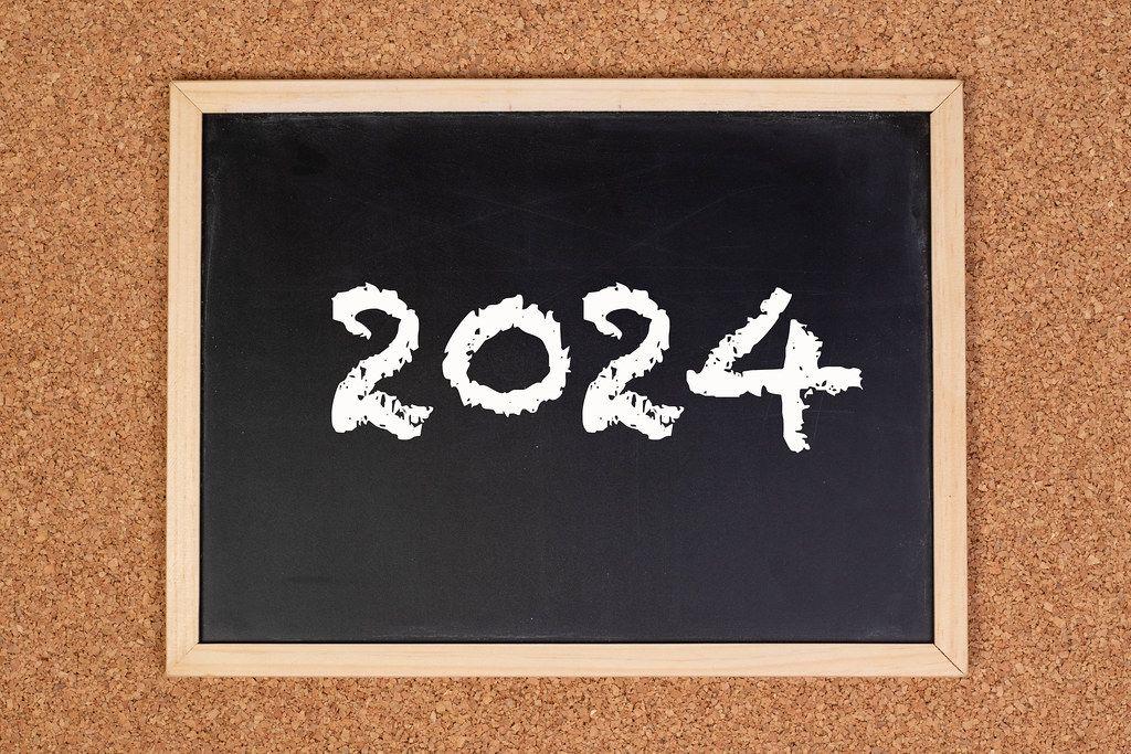 2024 on chalkboard