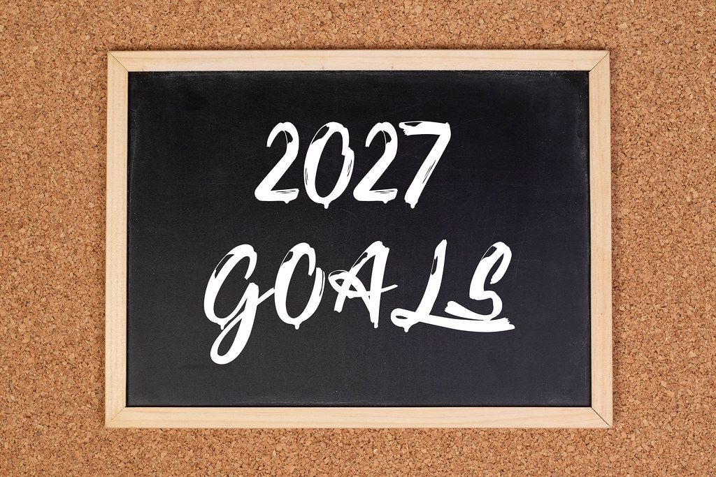 2027 goals on chalkboard
