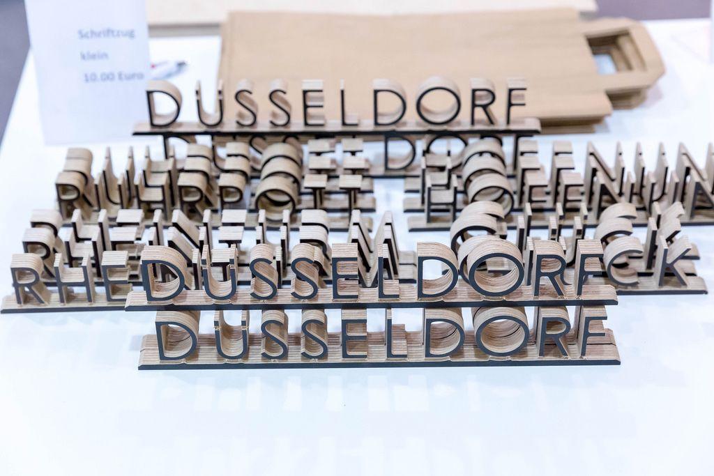 3D Holzschriftzüge - Boot Düsseldorf 2018