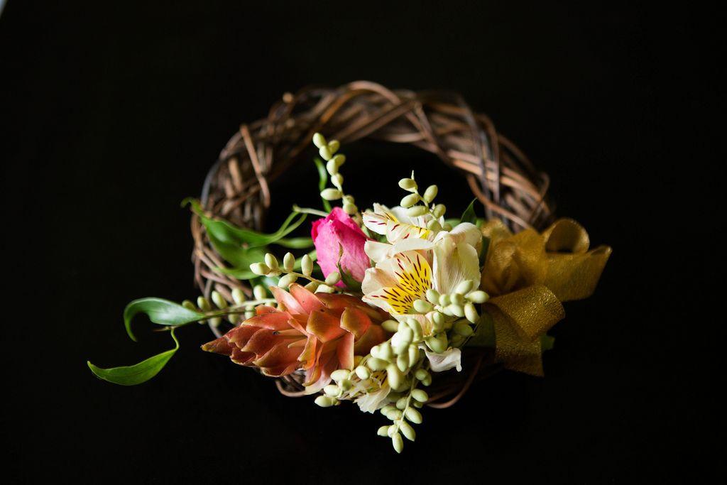 A headdress for a flower girl with dark background (Flip 2019) (Flip 2019) Flip 2019