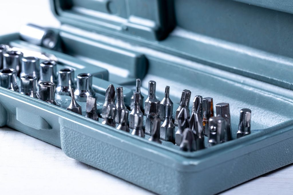 A set of nozzles on the screwdriver