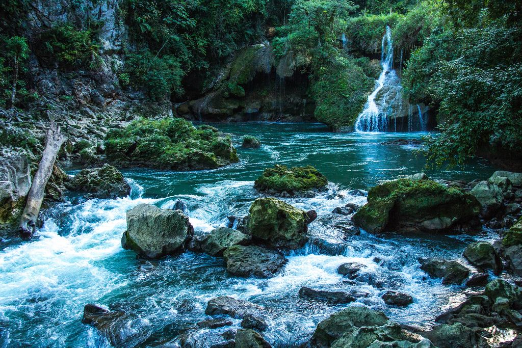 A Small Waterfall and the Cahabon River (Flip 2019) (Flip 2019) Flip 2019