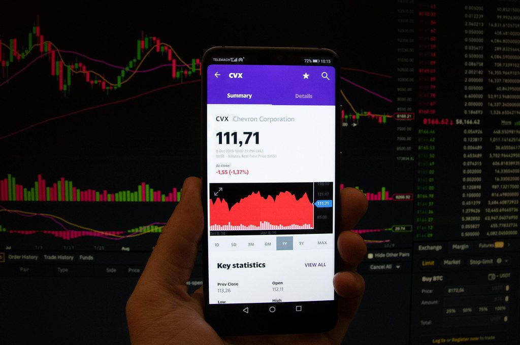 A smartphone displays the Chervon Corporation market value