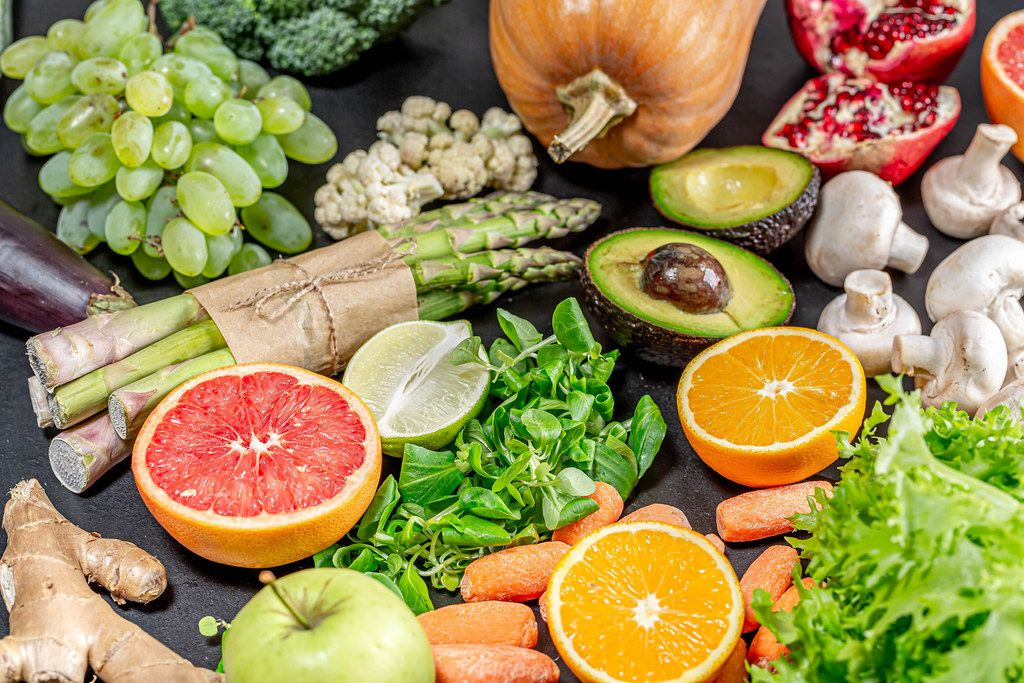 A variety of healthy and delicious foods for vegetarians and weight loss