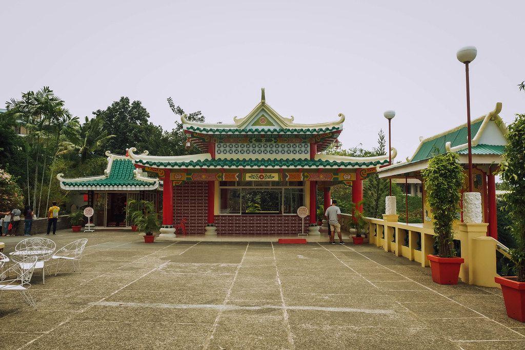 A wide shot of a Chinese shrine in Cebu