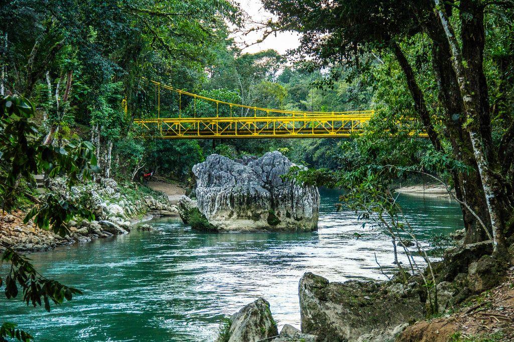 A Yellow Bridge Overpassing the Cahabon River (Flip 2019) (Flip 2019) Flip 2019