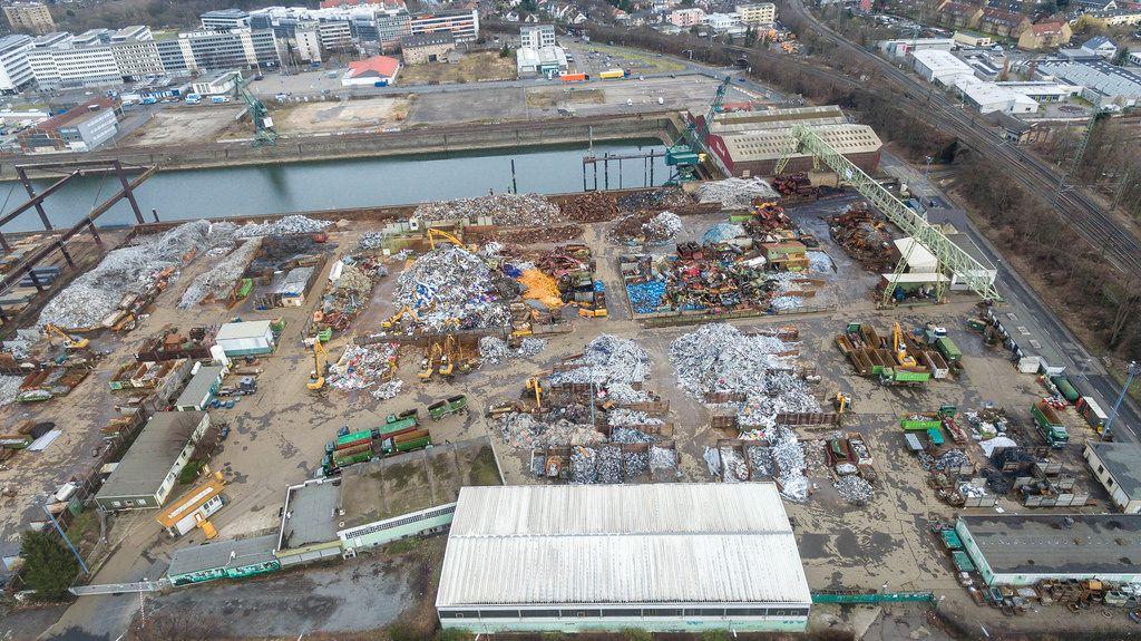 Abfall- und Entsorgung (Luftbild)