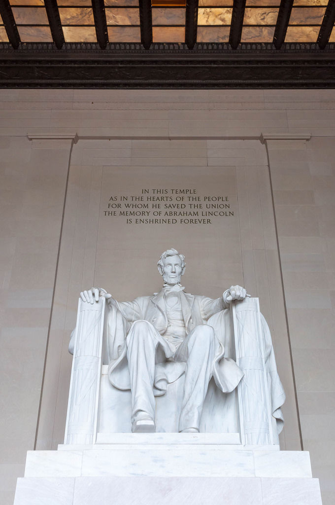 Abraham Lincoln at Lincoln Monument