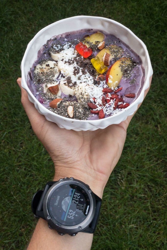 Acai Bowl at Sunset - Healthy  Start into the day