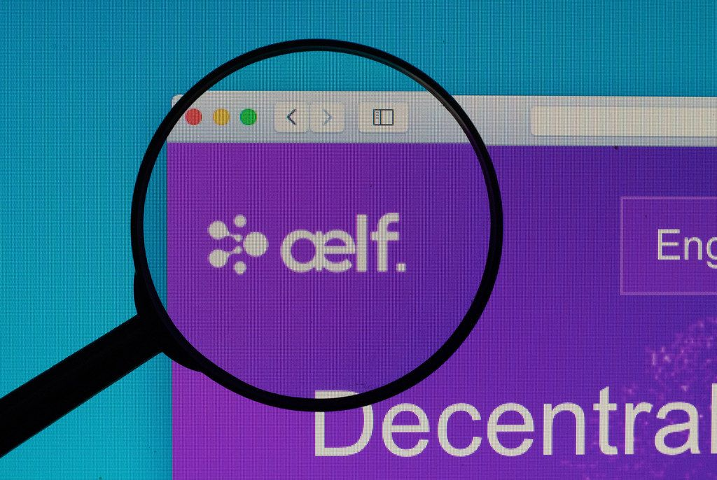 Aelf logo under magnifying glass