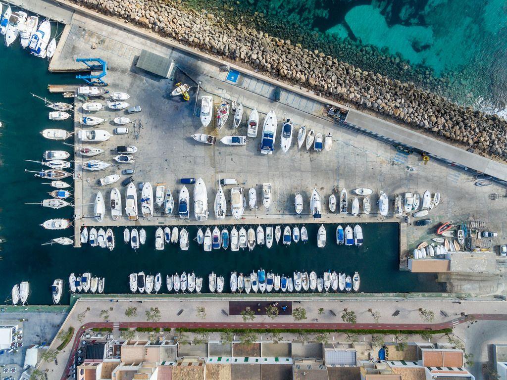 Aerial of Club Nàutic Ca'n Picafort