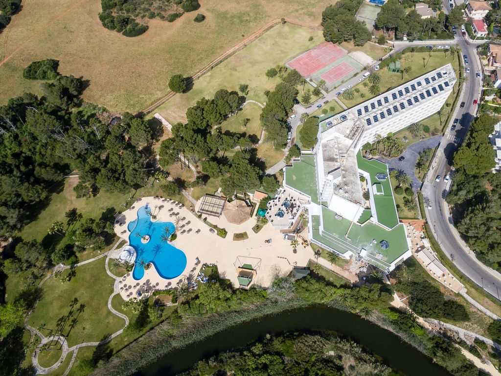 Aerial of Hotel Exagon Park (Can Picafort)