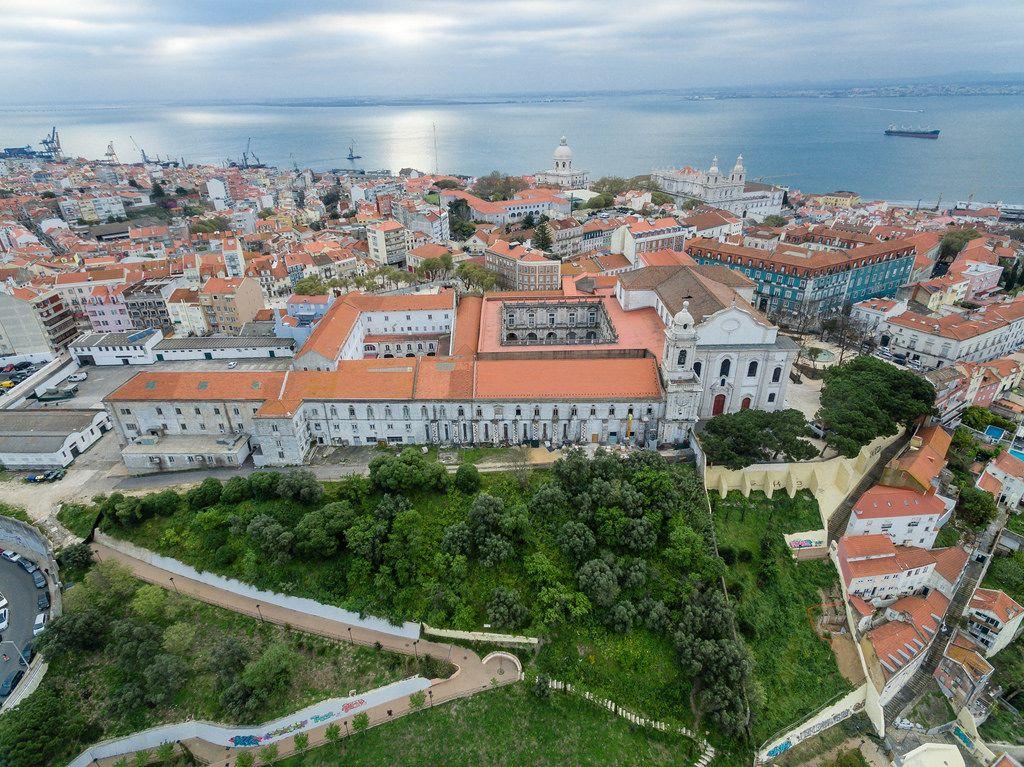 Aerial of Igreja e Convento da Graça