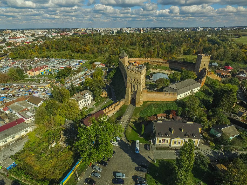 Aerial of Lubart's Castle
