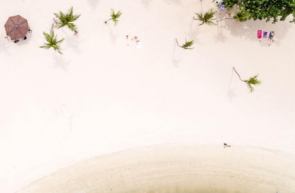 Aerial of Palawan Beach