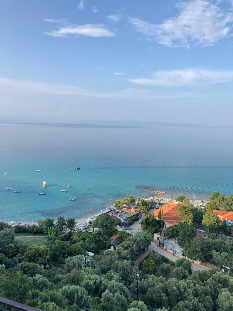 Aerial photo of Afitos with the sea in the background