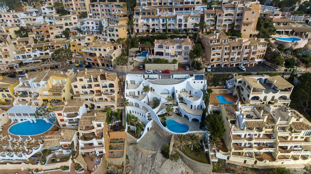 Aerial photo of Call Fornells in Peguera, Mallorca