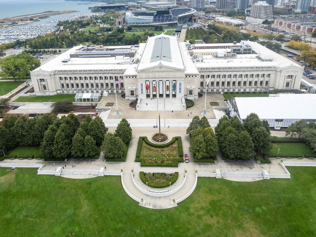 Aerial photo of The Field Museum in Chicago