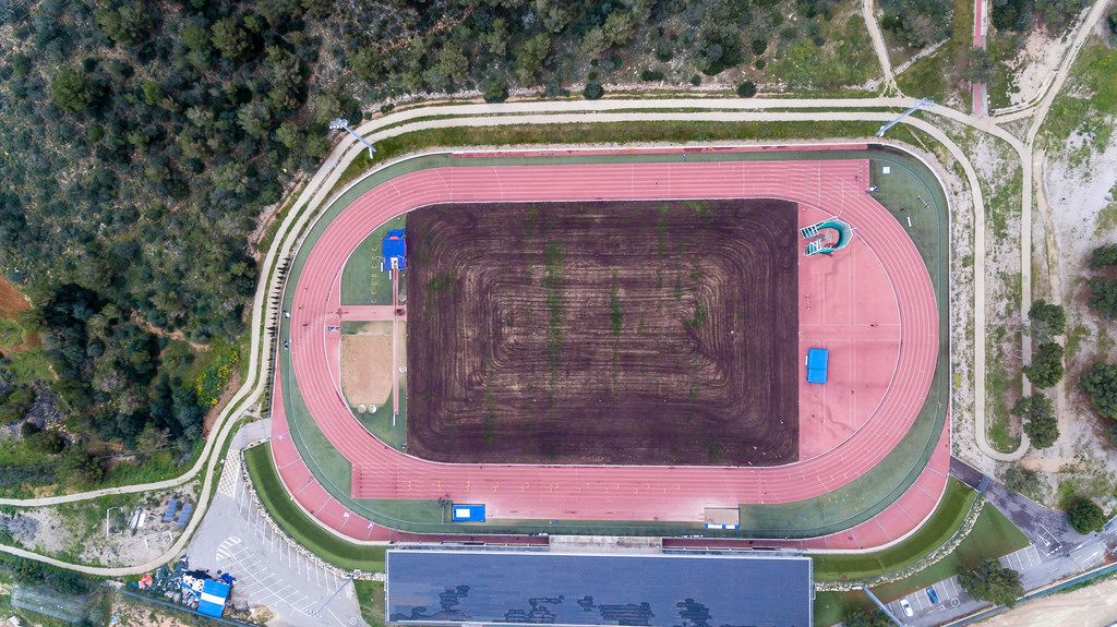 Aerial photo of the running track - ASICS Training Camp Mallorca