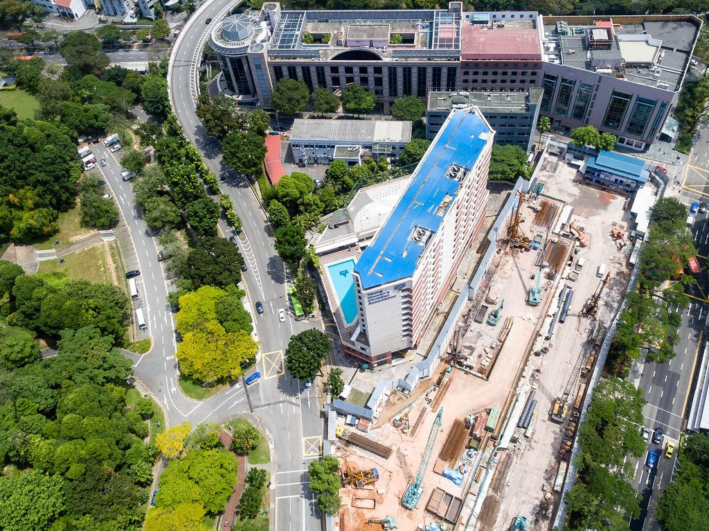 Aerial Photography of Fort Canning Lodge (Hotel)