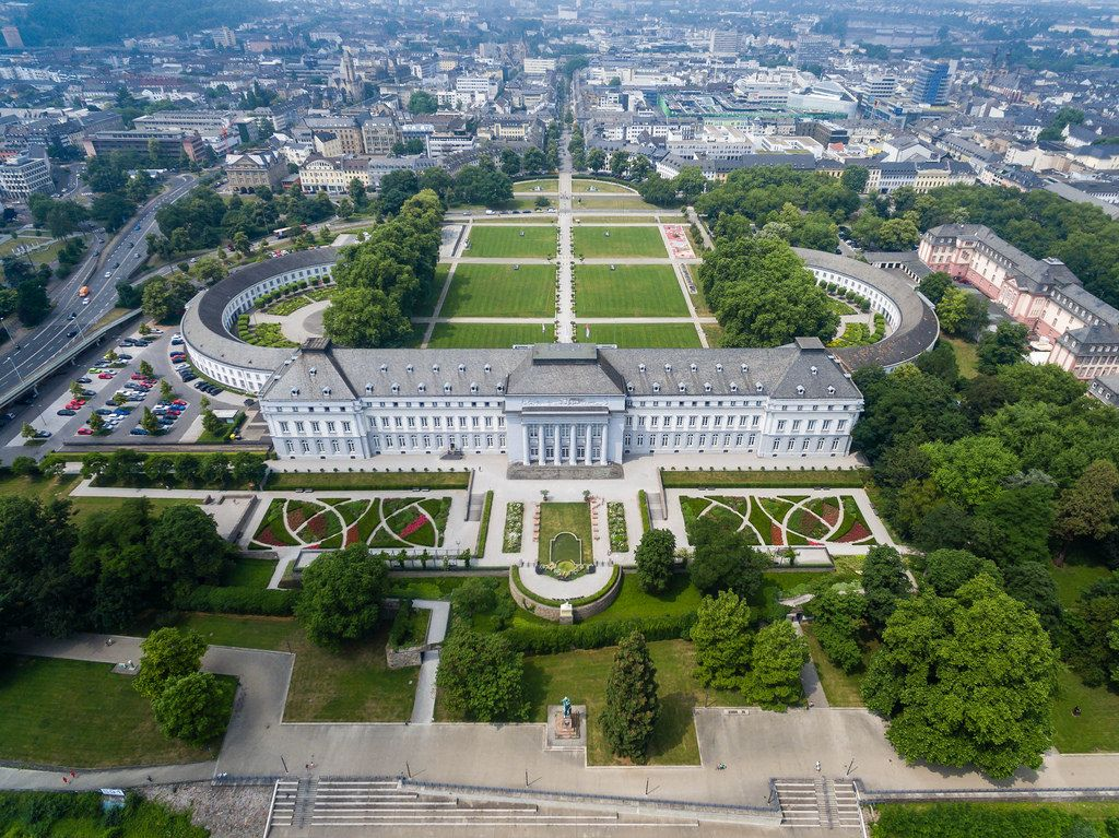 Aerial photography of Koblenz castle