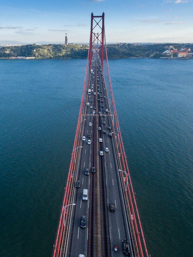 Aerial Shot of Ponte 25 de Abril