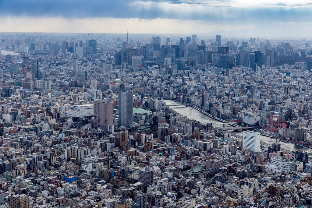 Aerial View from Tokyo Skytree