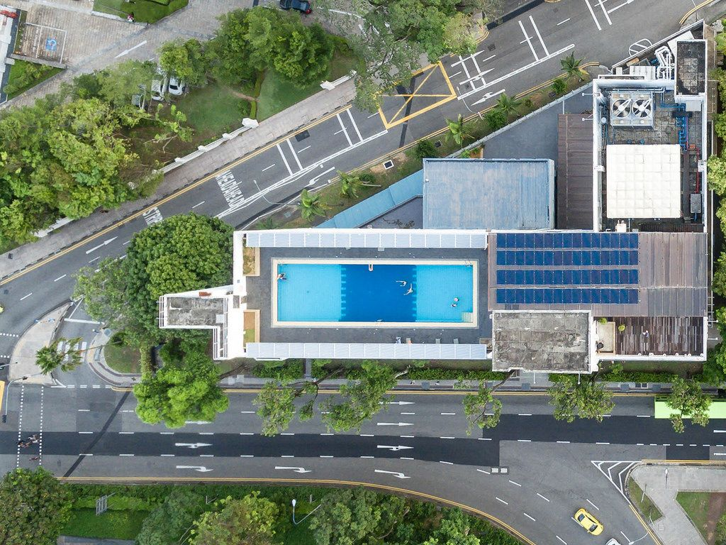 Aerial: YMCA Hotel Singapore
