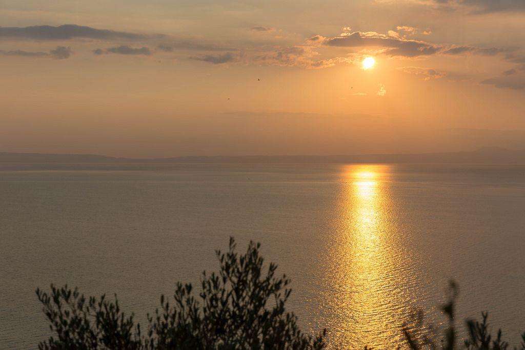 Luftbild vom Sonnenuntergang am Meer - Creative Commons Bilder