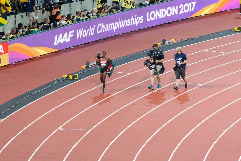 Agnes Jebet Tirop (10.000 Meter Lauf) bei den IAAF Leichtathletik-Weltmeisterschaften 2017 in London