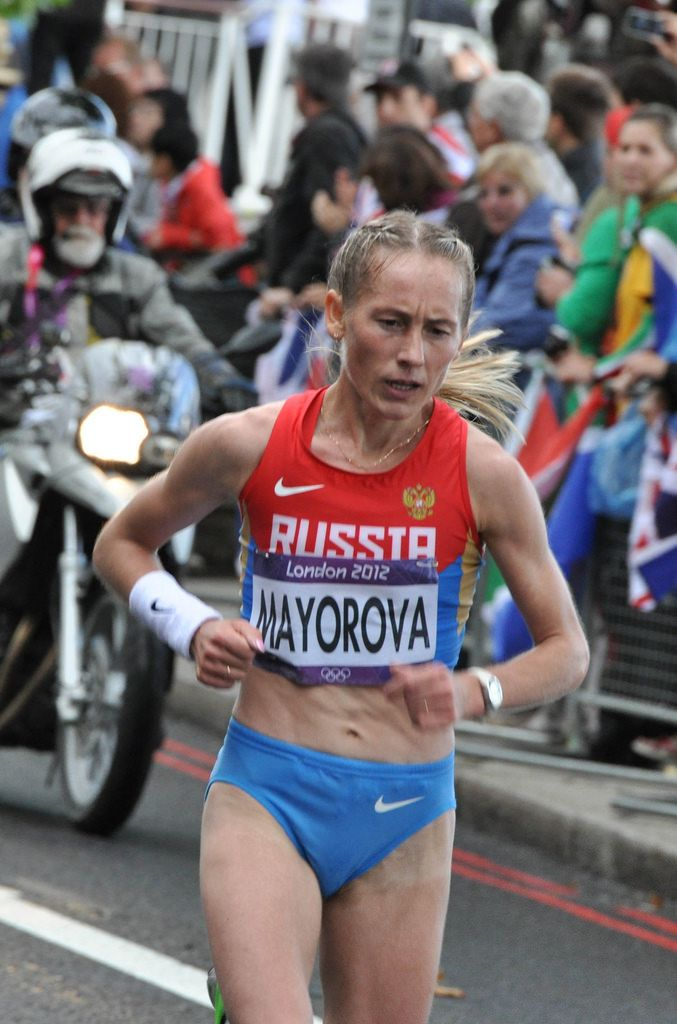 Albina Mayorova bei den London Olympics 2012