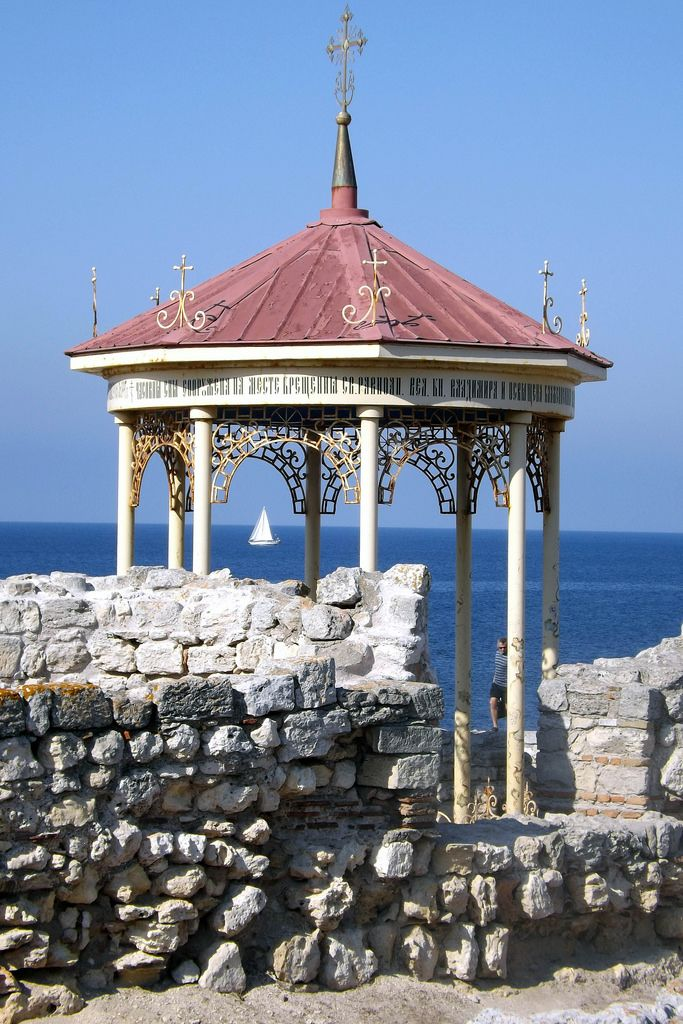 Alcove at the shore of black sea, Sevastopol, Ukraine