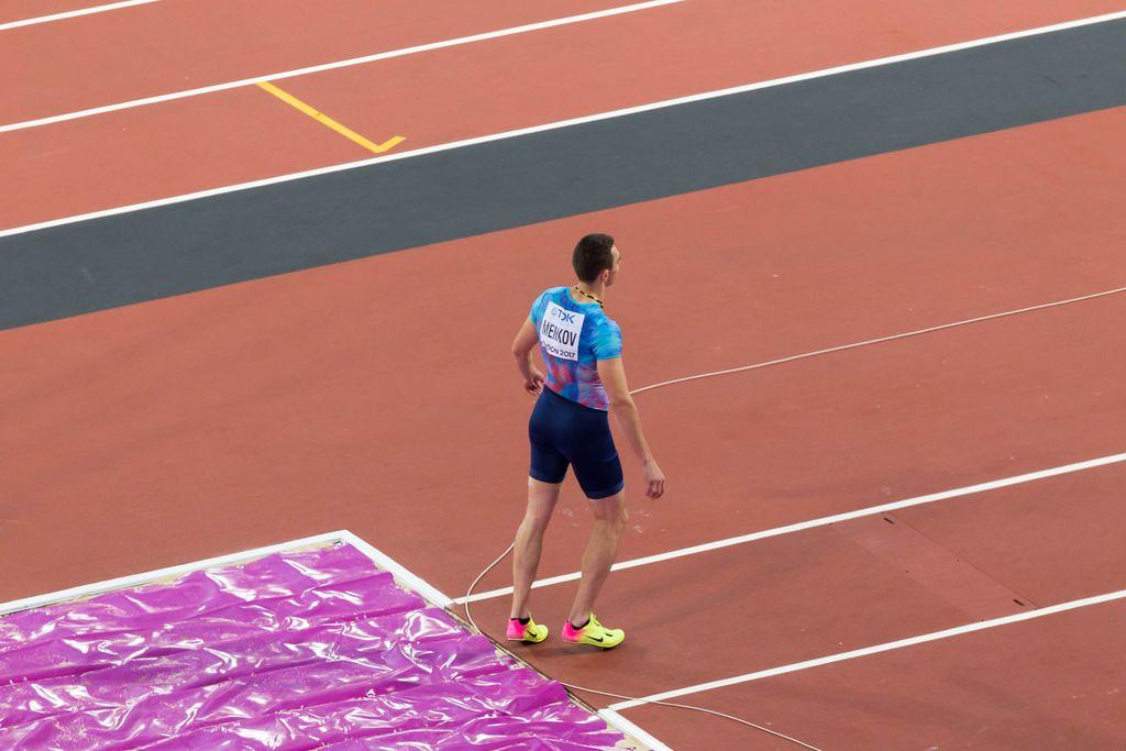 Aleksandr Menkov (Weitsprung) bei den IAAF Leichtathletik-Weltmeisterschaften 2017 in London