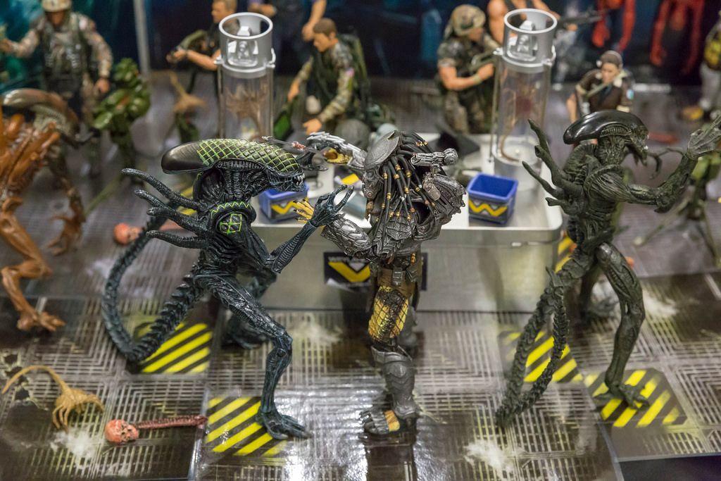 Alien and predator action figures