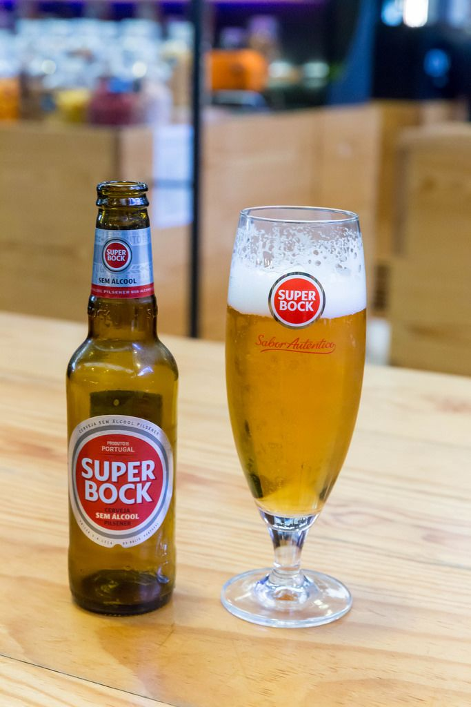 Alkoholfreies Super Bock Bier