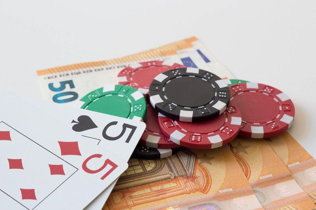 All-In-Einsatz beim Pokern