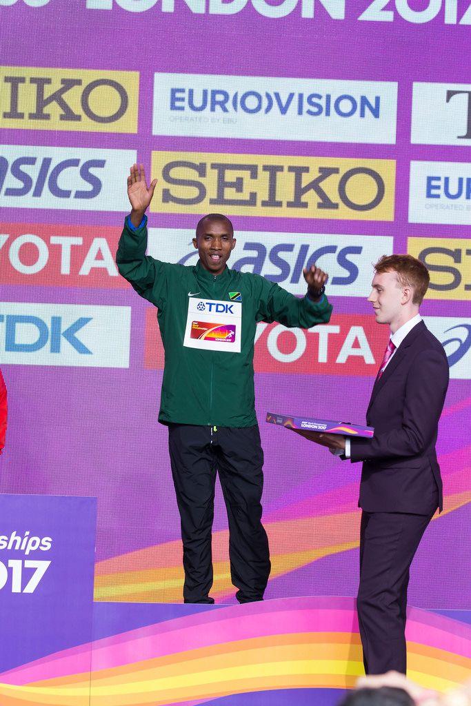 Alphonce Felix Simbu Bronzemedaille (Marathon Finale) bei den IAAF Leichtathletik-Weltmeisterschaften 2017 in London
