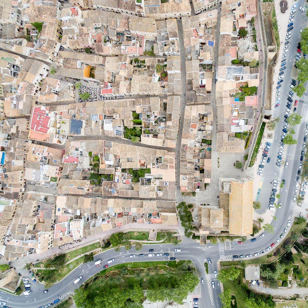 Altstadt Alcudia von oben