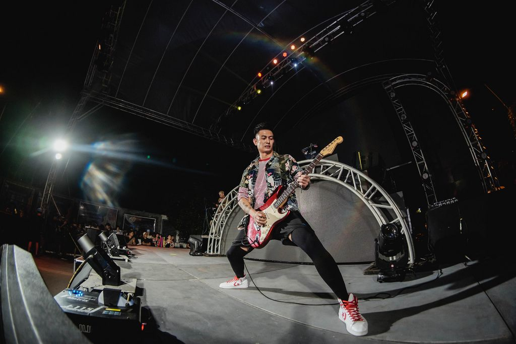 Alwyn rocking his guitar at Dinagyang Music Festival