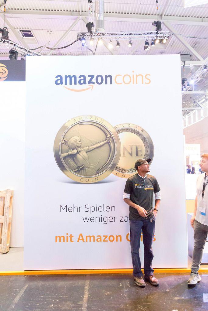 Amazon Coins Plakat - Gamescom 2017, Köln