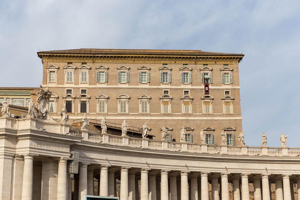 Angelus at the Vatikan in Rome